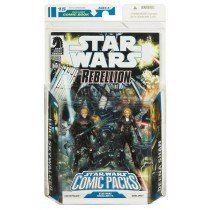 STAR WARS COMIC PACKS:LUKE SKYWALKER + DEENA SHAN + COMIC STAR WARS REBELLION #3